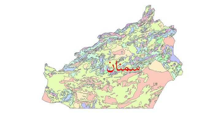 دانلود نقشه شیپ فایل فرسایش استان سمنان
