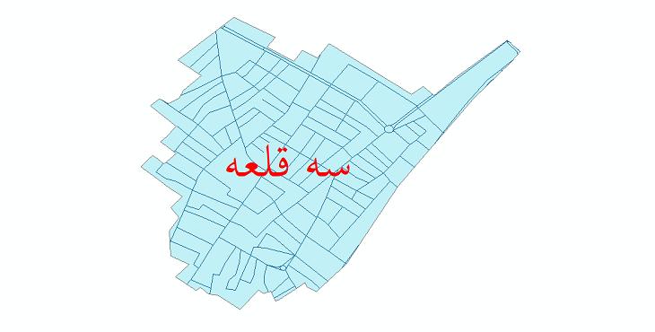 دانلود نقشه شیپ فایل شبکه معابر شهر سه قلعه سال 1399