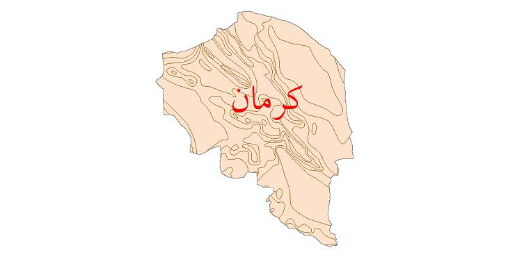 دانلود نقشه شیپ فایل خطوط هم تبخیر استان کرمان