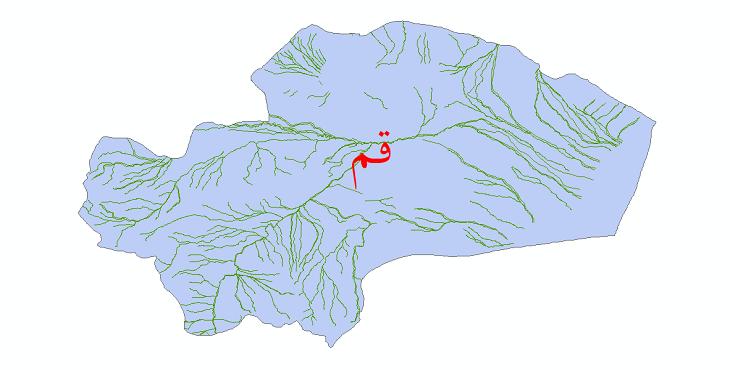 دانلود نقشه شیپ فایل رودخانه های استان قم