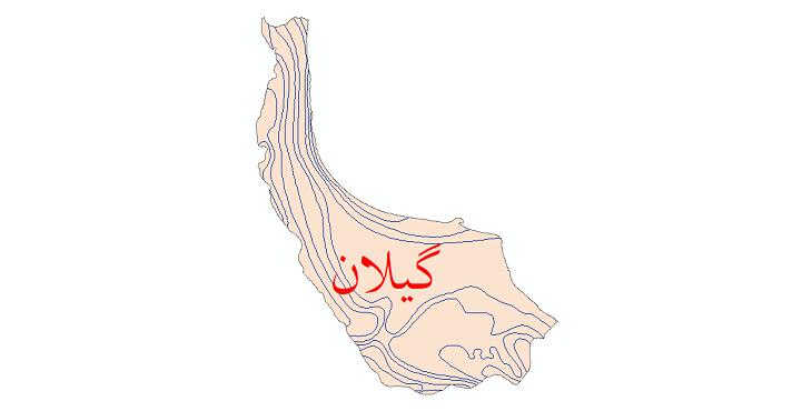 دانلود نقشه شیپ فایل خطوط هم دما استان گیلان