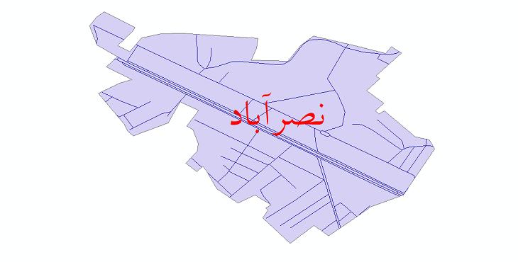 دانلود نقشه شیپ فایل شبکه معابر شهر نصرآباد سال 1399