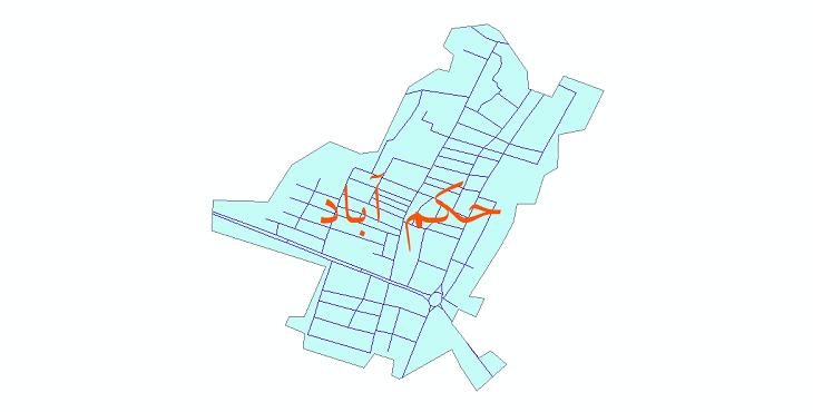 دانلود نقشه شیپ فایل شبکه معابر شهر حکم آباد سال 1399