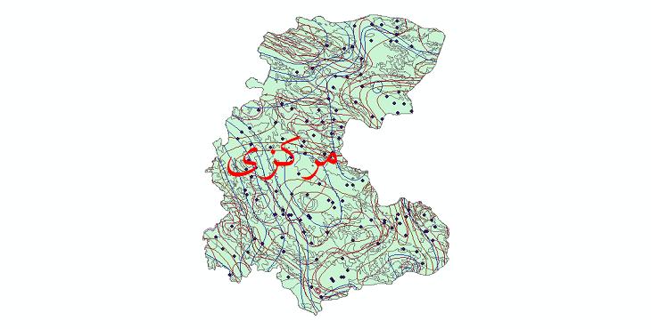 دانلود نقشه شیپ فایل اقلیمی استان مرکزی