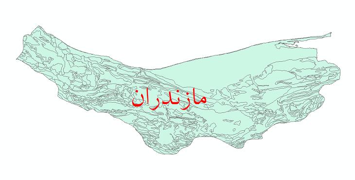 دانلود نقشه شیپ فایل زمینشناسی استان مازندران