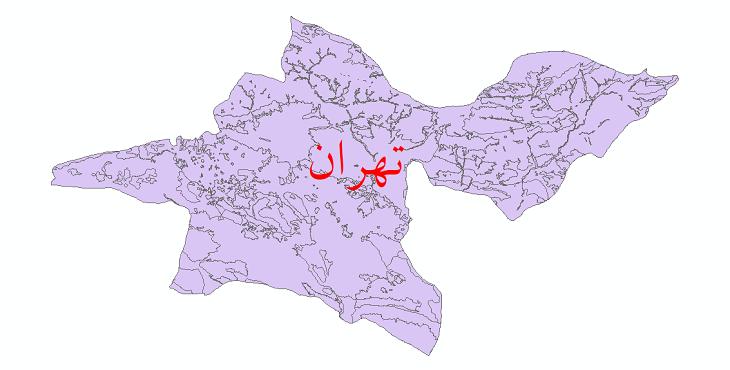 دانلود نقشه شیپ فایل کاربری اراضی استان تهران
