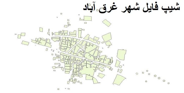 دانلود شیپ فایل بلوک آماری شهر غرق آباد سال ۱۳۸۵