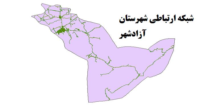 شیپ فایل شبکه راههای شهرستان آزادشهر 1399