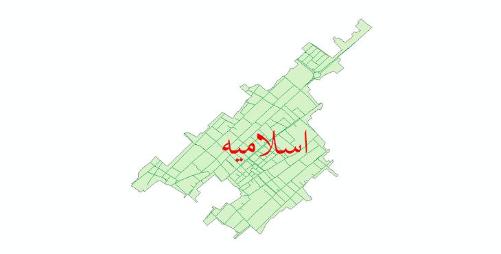 دانلود نقشه شیپ فایل شبکه معابر شهر اسلامیه سال 1399