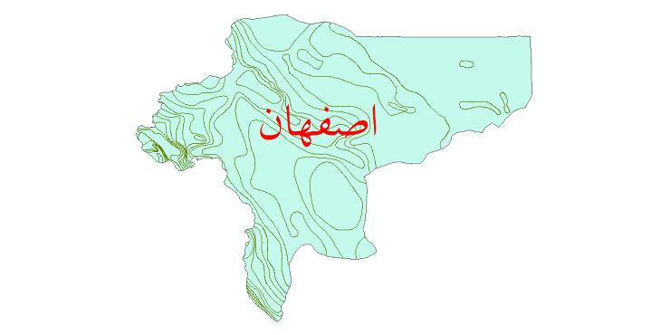 دانلود نقشه شیپ فایل خطوط هم بارش استان اصفهان