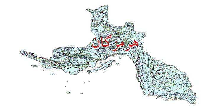 دانلود نقشه شیپ فایل اقلیمی استان هرمزگان