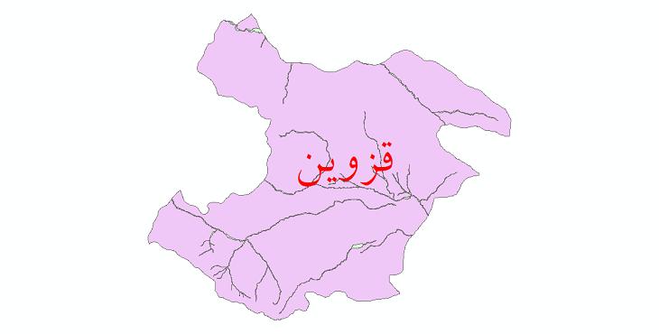 دانلود نقشه شیپ فایل پهنه های سیلاب استان قزوین