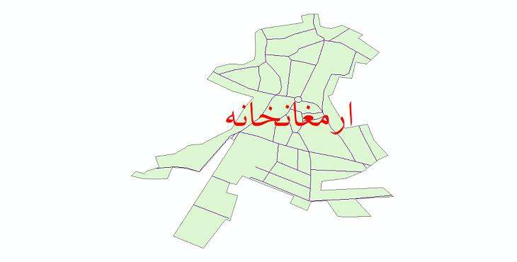 دانلود نقشه شیپ فایل شبکه معابر شهر ارمغانخانه سال 1399