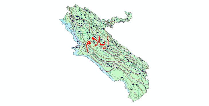 دانلود نقشه شیپ فایل اقلیمی استان ایلام
