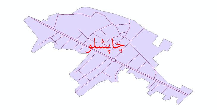 دانلود نقشه شیپ فایل شبکه معابر شهر چاپشلو سال 1399