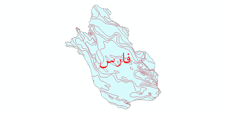 دانلود نقشه شیپ فایل خطوط هم دما استان فارس