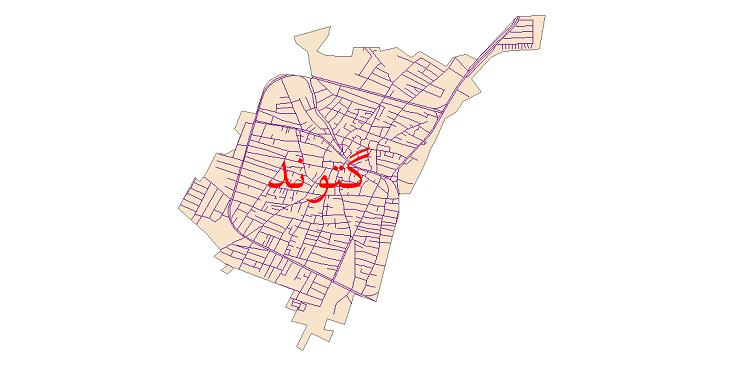 دانلود نقشه شیپ فایل شبکه معابر شهر گتوند سال 1399