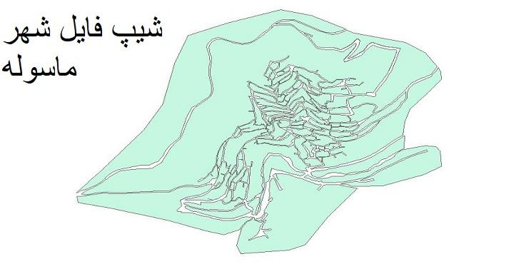 دانلود شیپ فایل بلوک آماری شهر ماسوله سال ۱۳۸۵