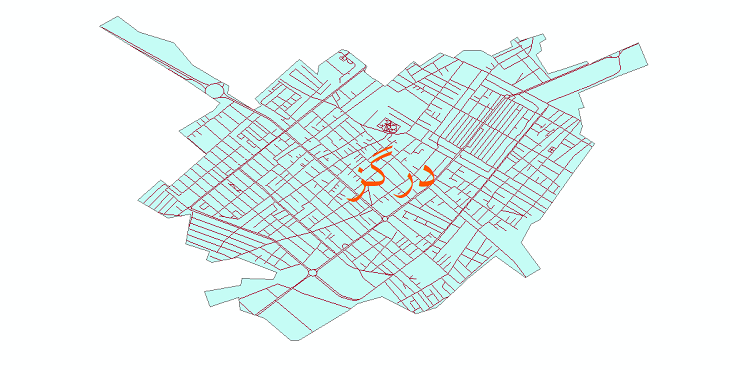 دانلود نقشه شیپ فایل شبکه معابر شهر درگز سال 1399