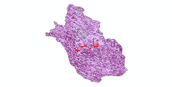 دانلود نقشه شیپ فایل رودخانه های استان فارس