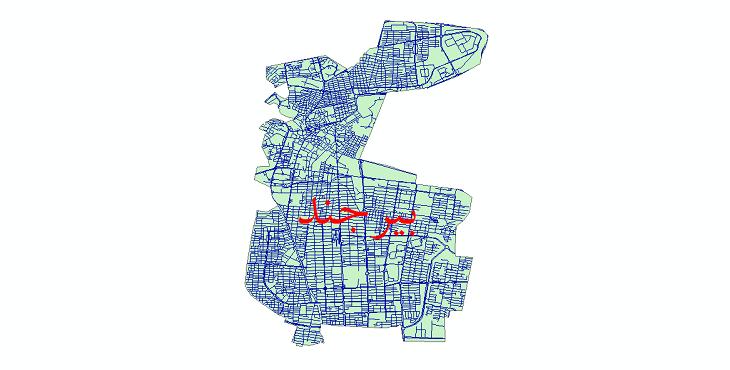 دانلود نقشه شیپ فایل شبکه معابر شهر بیرجند سال 1399