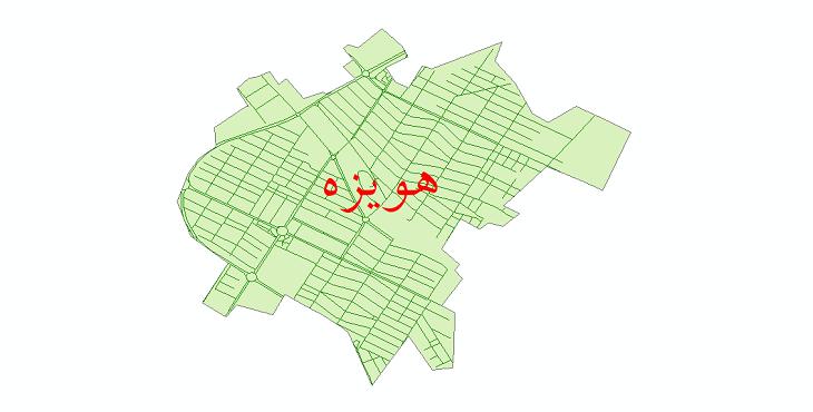 دانلود نقشه شیپ فایل شبکه معابر شهر هویزه سال 1399