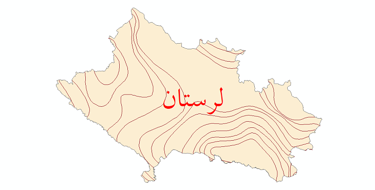 دانلود نقشه شیپ فایل خطوط هم بارش استان لرستان