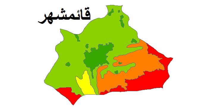 شیپ فایل کاربری اراضی شهرستان قائمشهر