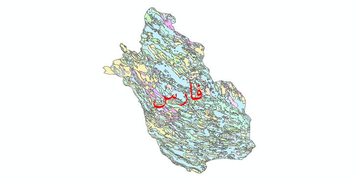 دانلود نقشه شیپ فایل فرسایش استان فارس