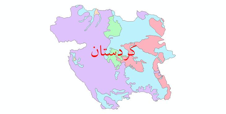دانلود نقشه شیپ فایل خاک استان کردستان