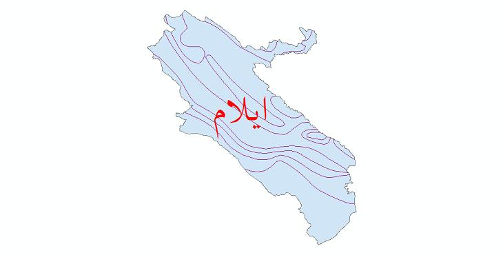دانلود نقشه شیپ فایل خطوط هم تبخیر استان ایلام