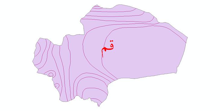 دانلود نقشه شیپ فایل خطوط هم بارش استان قم