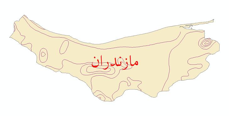 دانلود نقشه شیپ فایل خطوط هم تبخیر استان مازندران