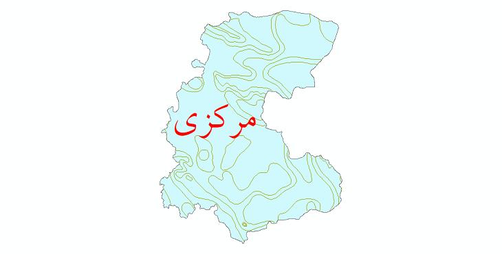 دانلود نقشه شیپ فایل خطوط هم دما استان مرکزی