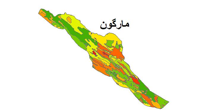 شیپ فایل کاربری اراضی شهرستان مارگون