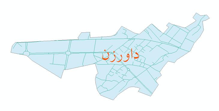 دانلود نقشه شیپ فایل شبکه معابر شهر داورزن سال 1399