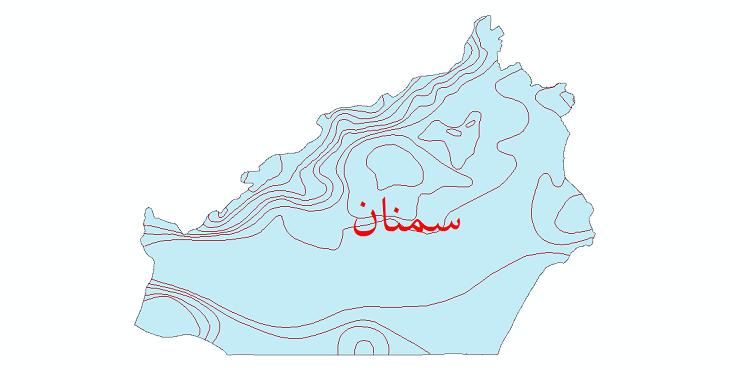 دانلود نقشه شیپ فایل خطوط هم تبخیر استان سمنان