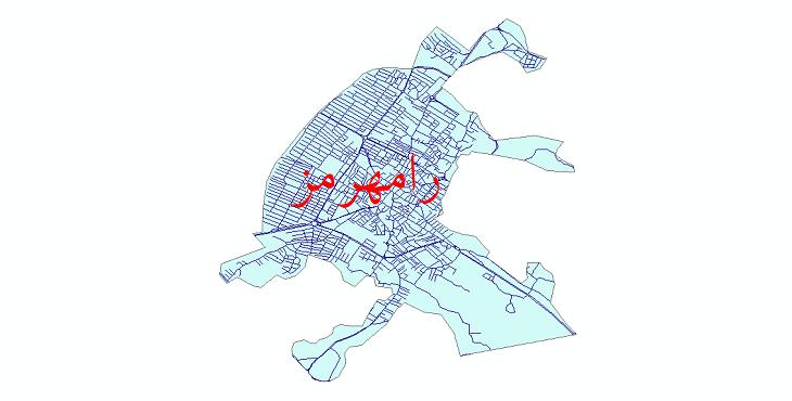 دانلود نقشه شیپ فایل شبکه معابر شهر رامهرمز سال 1399