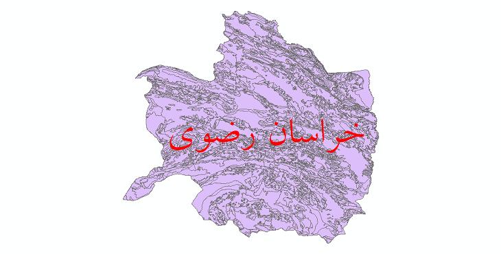 دانلود نقشه شیپ فایل زمینشناسی استان خراسان رضوی