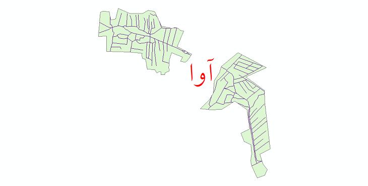 دانلود نقشه شیپ فایل شبکه معابر شهر آوا سال 1399