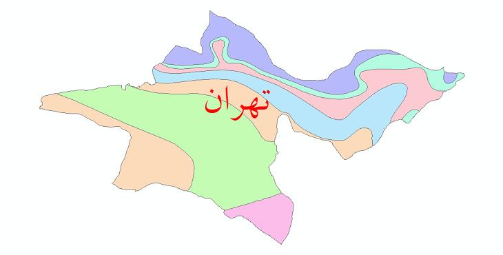 دانلود نقشه شیپ فایل طبقات اقلیمی استان تهران