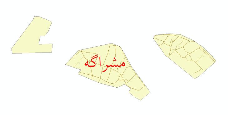 دانلود نقشه شیپ فایل شبکه معابر شهر مشراگه سال 1399