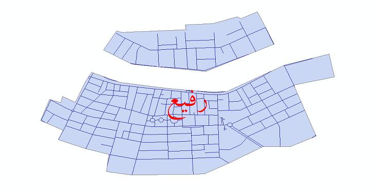 دانلود نقشه شیپ فایل شبکه معابر شهر رفیع سال 1399