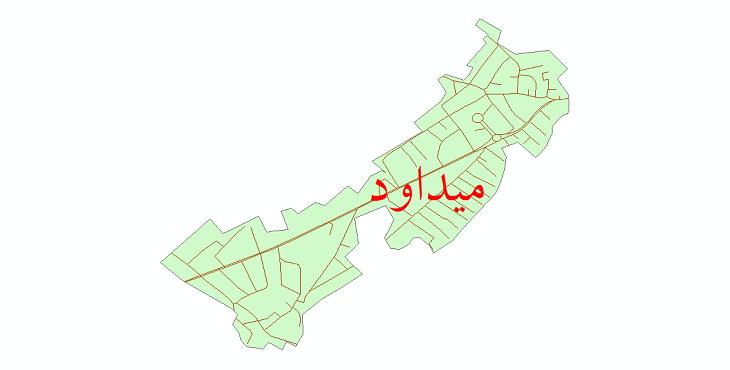 دانلود نقشه شیپ فایل شبکه معابر شهر میداود سال 1399