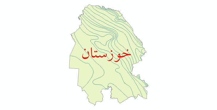 دانلود نقشه شیپ فایل خطوط هم بارش استان خوزستان