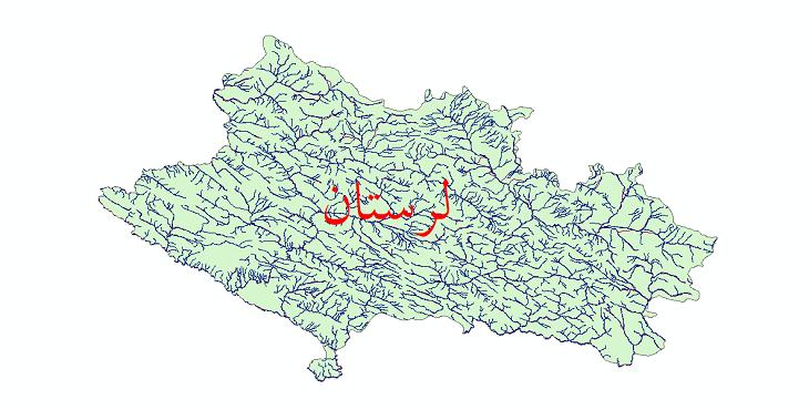 دانلود نقشه شیپ فایل رودخانه های استان لرستان