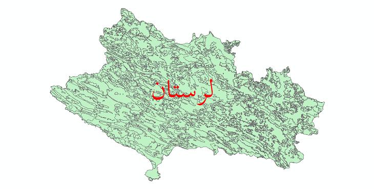 دانلود نقشه شیپ فایل کاربری اراضی استان لرستان