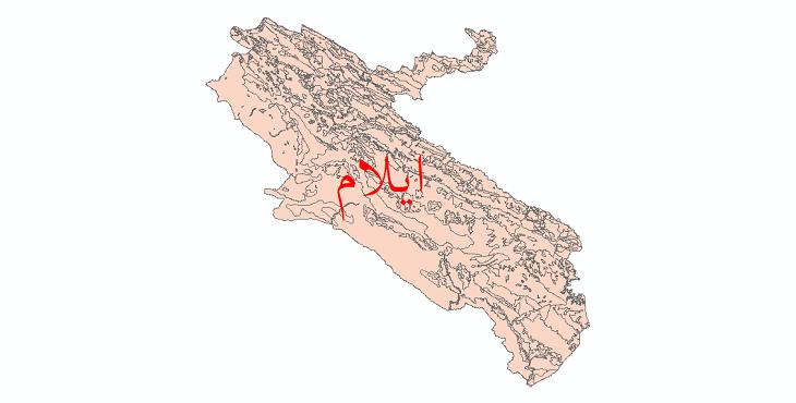 دانلود نقشه شیپ فایل کاربری اراضی استان ایلام