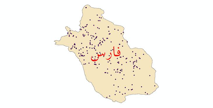 دانلود نقشه شیپ فایل ایستگاه های هواشناسی و نقاط باران سنجی استان فارس