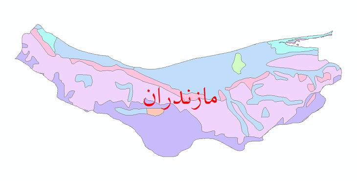 دانلود نقشه شیپ فایل پوشش گیاهی استان مازندران